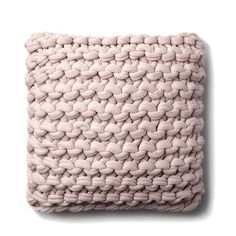Sure to be a favourite this season, these fantastic chunky knit cushions transform any space with their bold texture and style. With a plain woven reverse and a surprisingly soft front, these cushions are on our must have list. Knitted Cushions, Pink Cushions, Dusty Pink Bedroom, Bedroom Cushions, Sitting Room Decor, Pillow Inspiration, Knit Pillow, Pink Bedding, Knitting
