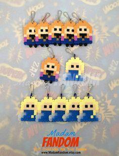 Frozen Party Favor Set of 12 perler beads by MadamFANDOM