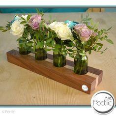Kerzenständer - Edel Makore Buche Blumenvase Vasenständer Holz - ein Designerstück von Peetie-Holzdesign bei DaWanda