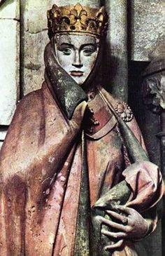 Uta Von Naumburg: la Mujer más Bella del Medioevo. (Uta von Naumburg: The Most Beautiful Women of the Middle Ages.), (Figure was made 1255 by the Naumburg Masters.