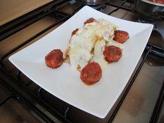 Pàtes  -Rigatoni  au four ,fromage  parmesan   e t  croquettes  de  veau  au tomate Gino D'Aquino