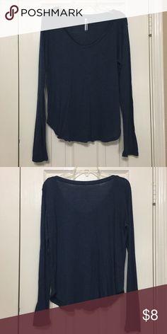 Long Sleeve Tshirt Blue V-neck Tshirt in good condition. Tops