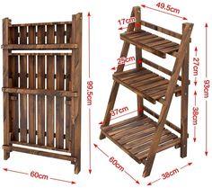 Plant Shelves, Display Shelves, Wooden Display Stand, Diy Plant Stand, Outdoor Plant Stands, Wooden Plant Stands Indoor, Farmers Market Display, Market Displays, Regal Display