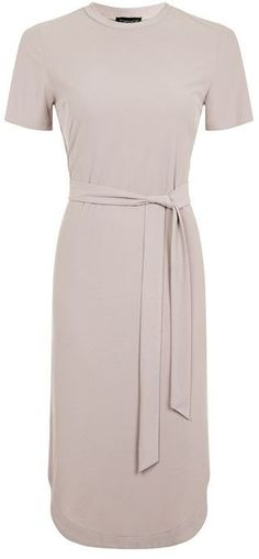 Topshop Rib belted midi dress is the perfect item to add to your spring work wardrobe