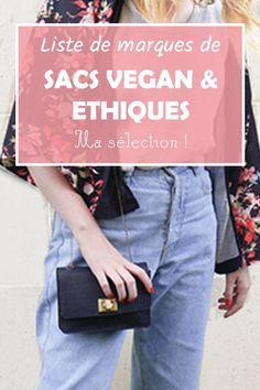 Marques de sac vegan et éthique : ma sélection - Die günstigsten Holzkisten auf dem Markt Vegan Fashion, Slow Fashion, Ethical Fashion, Fashion Handbags, Fashion Bags, Vegan Handbags, Fair Trade Fashion, Important Facts, Gifts For Photographers