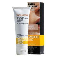 Invisible Zinc Tinted Daywear SPF 30+ 20g $15.99. A 3-in-1 favourite: facial moisturiser, sunscreen & sheer foundation tint. Love!