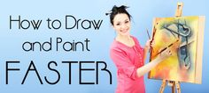 'How to draw & paint faster: 15 tips for high school Art students.' (via Student Art Guide) Painting Lessons, Drawing Lessons, Art Lessons, Ap Drawing, Drawing Projects, High School Art, Middle School Art, Zentangle, Ap Studio Art