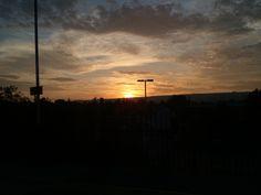 Sunset near Petersfield.
