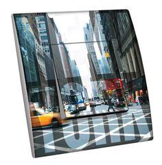 Interrupteur décoré Villes - Voyages / New York 9 simple - Decorupteur