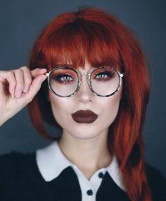e3410bbef7 Glasses Red Hair Makeup 57+ Ideas Dark Makeup Looks