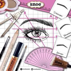 You dont need to be a whiz in geometry or trigonometry to have great brows. Just use the drawing above to know where your brow line should start and end and where the arch should be. It's that simple! What's Up Brow products available in all our stores nationwide and at www.snoebeauty.com  #Snoe #SnoeBeauty #Beauty #Brows #browsonfleek  #Eyebrow #Brow #Browgel