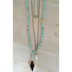 Crystal Rosary Necklace by HelloGoodVibesDallas on Etsy