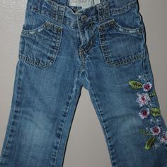 Embroidered jeans, Size 3