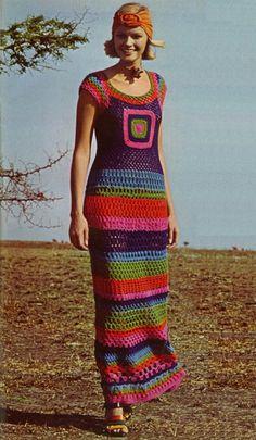 Colorful & Cool Maxi Dress...love the headwrap too! - #naturadmc