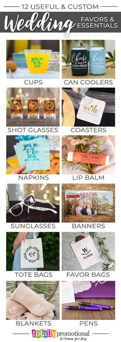 Create great memories and lots of fun with our custom #wedding favors & reception items! Choose one of our head-turning designs or submit your own for personalized wedding favors your guests will appreciate! We have the most popular colors & styles of premium drinkware, #koozies, lip balm, sunglasses, coasters, banners & more! Receive a FREE bride & groom can cooler with ANY wedding order! Browse today!