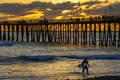 Oceanside Pier at Sunset - March 13, 2014 by Rich Cruse on 500px
