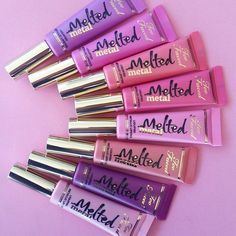 Too Faced Melted Metal Liquified Metallic Lipstick Sephora Metallic Lipstick, Liquid Lipstick, All Things Beauty, Beauty Make Up, Melting Metal, Pinterest Design, Makeup Obsession, Cute Makeup, Makeup Goals