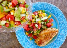 IMG_3913 Couscous, Salsa, Cobb Salad, A Food, Chicken Recipes, Curry, Eat, Blog, Red Peppers