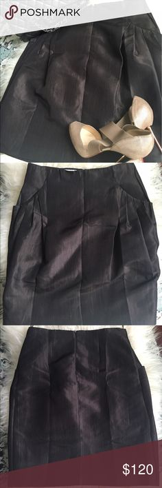 MOSCHINO Skirt MOSCHINO skirt. Silk wool blend. Fully lined. Pockets! Absolutely beautiful. Moschino Skirts