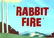 Rabbit Fire @ BCDB: Daffy leaves rabbit tracks to Bugs' hole for Elmer to follow, and the debate over who is in season begins... , Watch Cartoon Video @ http://www.bcdb.com/cartoon_characters/282-Rabbit_Fire.html