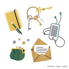 Illustration by Sanny van Loon from the book 'Creative Flow' • www.sannyvanloon.com | what's in your bag