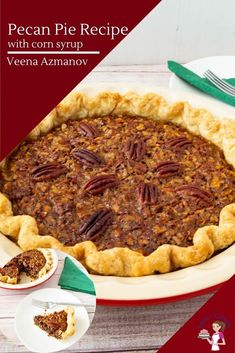 This is the classic pecan pie. A homemade all-butter pie crust and a filling made with brown sugar, corn syrup, molasses, and lots of pecans. The perfect make-ahead dessert for festive occasions such as Thanksgiving or Christmas #pecanpie #pecan #classic #piewithpecans #bestpecanpie #easypecanpie