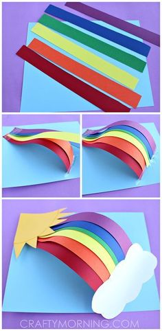 3D Rainbow art! Fun for kids of all ages. Get creative and pick your own colors or learn about the light spectrum! #DIY #ArtsandCrafts #Kids