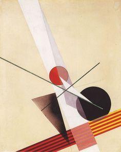 Laszló Moholy-Nagy    Composition A XXI, 1925    Oil on canvas, 96 x 77 cm,
