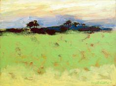 "Contemporary Acrylic landscape painting, Modern, Original, 9 x 12  ""Windswept Ridge"" Framed. $95.00, via Etsy."