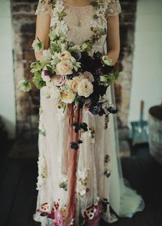 Berry bouquet, romantic and moody at the same time.