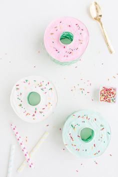 Donut ice cream cake