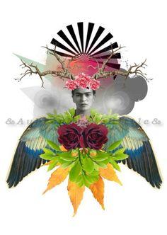 *** Mi Frida x 11 Inch Print by AndAubreyWas on Etsy. A chance to get her for FREE. Printed Portfolio, Art Portfolio, Frida Kahlo Diego Rivera, Digital Art Gallery, Mexican Art, Line Design, Collage Art, New Art, Illustration Art