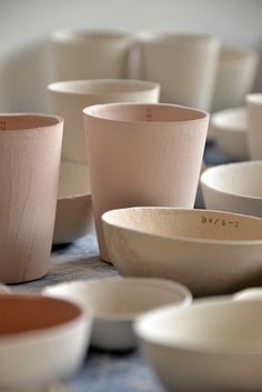 inspiration | blush ceramics: could be used for centerpieces or favors | via: flikr