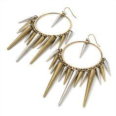 Minerva Collection Spike Drop Pierced Fashion Earrings Burnt Gold  Silver  Price : £7.00 http://www.minervacollection.com/Minerva-Collection-Pierced-Fashion-Earrings/dp/B0078MFG66