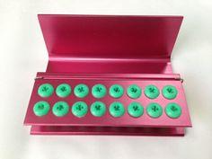 3pcs PINK color 16 holes Dental FG Bur Burs Disinfection Autoclave Holder Block  #Haodental