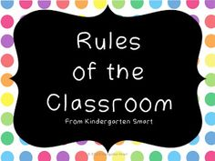 Classroom Rules for Primary Learners FREEBIE!