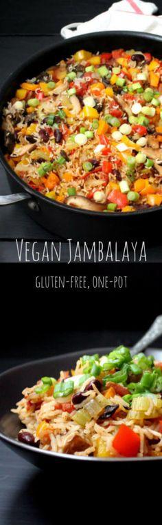 Vegan Jambalaya, a colorful, healthy, one-pot meal - HolyCowVegan.net