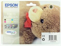 Epson Original Black and Colour Multipack Ink Cartridges (4 DuraBrite Ultra Inks - Black, Cyan, Magenta, Yellow) T0615 T0611 T0612 T0613 T0614 - Epson DURABrite Ultra ink – no smudging, no fading – simply perfect prints whatever you're printing. Epson's DURABrite Ultra ink has an exclusive technology where each pigment particle is coated in resin.  - http://ink-cartridges-ireland.com/epson-original-black-and-colour-multipack-ink-cartridges-4-durabrite-