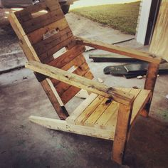 Pallets can be repurposed into just about anything with a little sanding and elbow grease.