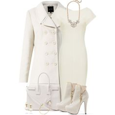 Love winter white; would change the shoes and make them pumps