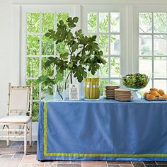 Love this tablecloth.