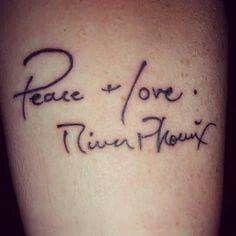 River Phoenix Tattoo