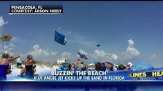 WATCH: Blue Angels' Epic Fly-By Launches Umbrellas