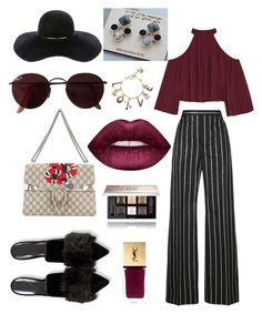 """Без названия #7"" by e-vlasova on Polyvore featuring мода, Balenciaga, Eugenia Kim, Gucci, Ray-Ban, W118 by Walter Baker, Lime Crime, Givenchy, Yves Saint Laurent и Betsey Johnson"