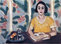 Woman Reading with Peaches via Henri Matisse