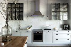 WILANÓW - Średnia otwarta kuchnia jednorzędowa z wyspą, styl skandynawski - zdjęcie od PINKMARTINI