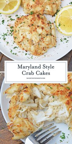 Maryland Crab Cakes are made with jumbo lump crab meat with little filler, Dijon mustard and Old Bay Seasoning plus secrets to making authentic Chesap. - - Maryland Crab Cakes are made Crab Cake Recipes, Fish Recipes, Seafood Recipes, Cooking Recipes, No Filler Crab Cakes Recipe, Lump Crab Meat Recipes, Crab Cakes Recipe Best, Dinner Recipes, Homemade Crab Cakes