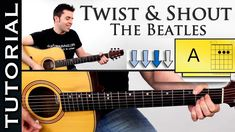Como tocar TWIST AND SHOUT en guitarra acustica fácil tutorial con acordes                                                                                                                                                                                 Más