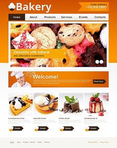 Food & Drink inspirations at the Coffee Break? Browse for more Food & Drink and Moto CMS HTML templates! // Regular price: $139 // Unique price: $8500 // Sources available: // #FoodDrink #CMS #MotoCMS #HTML #templates #bakery
