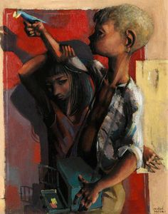 Brother and Sister by Michael Ayrton, 1949 Wyndham Lewis, 1970s Art, Sisters Art, Edgar Degas, Art Uk, Your Paintings, Science Fiction, Illustrators, Brother